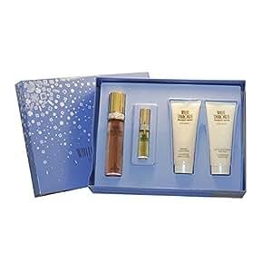 Elizabeth Taylor White Diamonds 4 Piece Gift Set for Women (Eau de Toilette Spray 1.7 Ounce, Mini Eau de Toilette Spray 0.33 Ounce, Body Lotion 3.3 Ounce, Body Wash 3.3 Ounce)