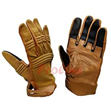Molle Tactical Tactican Tactile Gloves Size: LARGE Touch-Screen Compatible-TAN