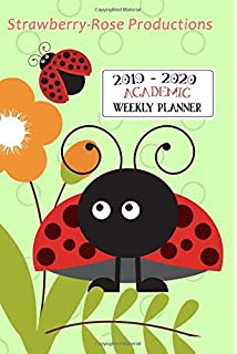 Amazon.com: 2019-2020 Weekly Planner: Cute Simple Red ...