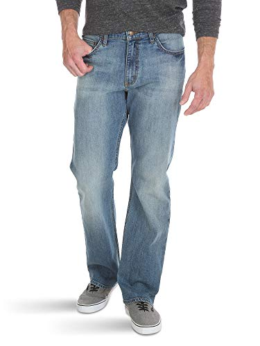 Wrangler Authentics Men's Relaxed Fit Boot Cut Jean, Riptide, 42x32