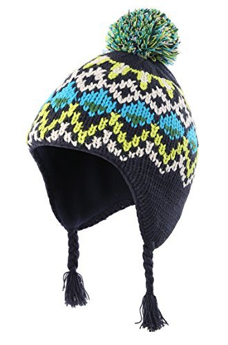 Fleece Peruvian Hat - Home Prefer Toddler Boys Winter Hats Fleece Lined Pineapple Knitted Peruvian Earflaps Hat Large