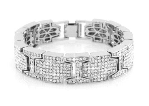 Hip hop Silver Bling Bracelet Covered product image