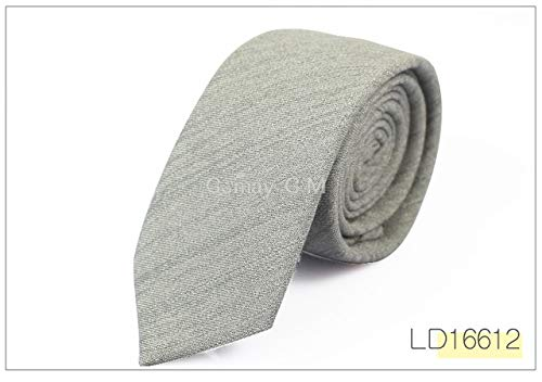 (Graven 2017 Fashion Casual Cotton Solid Mens Ties for Men 6CM Width Narrow Wedding Business Groons Necktie Fresh Neck Tie Neckwear - (Color: LD16612))
