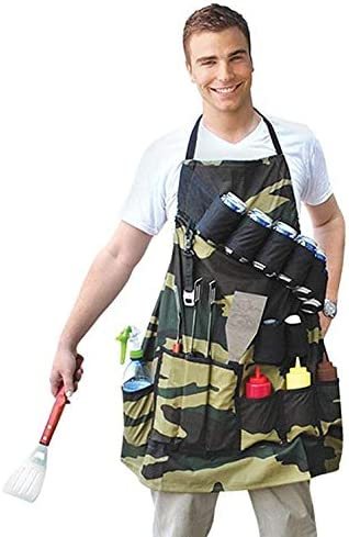 Amazon.com: Barbecue Funny Grill Sergeant BBQ Apron with Pockets and Beer  Holder 12 x 1 x 12 inches 6.6 Ounces: Home & Kitchen