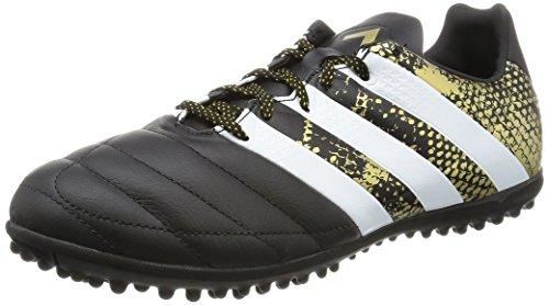 adidas Ace 16.3 Tf Leather, Botas de Fútbol para Hombre Negro (Negbas / Ftwbla / Dormet)
