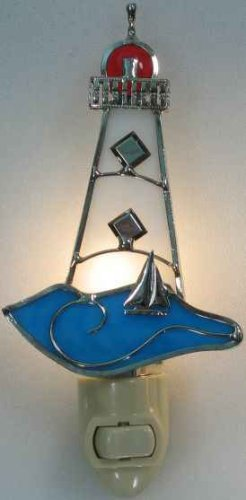 Stained Glass Lighthouse Night Light