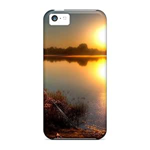 New Cute Funny Sunset Fishing Case Cover/ Iphone 5c Case Cover