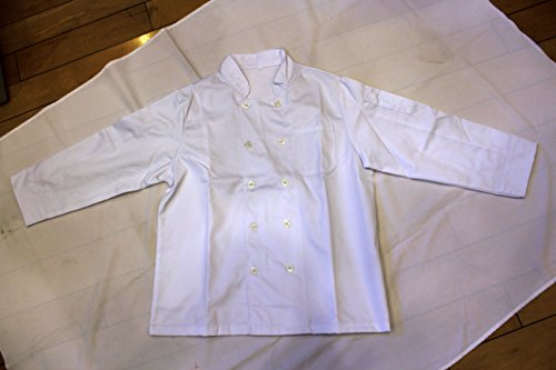 All White Unisex Chef Jacket (Long Sleeves) Size 44, X-Large