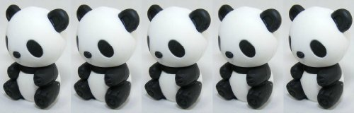 Iwako Panda Erasers, a Set of 5 Pieces, Made in Japan, - Pencil Panda