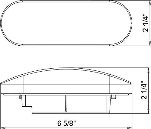 Kaper II 1T-L6C White 6'' Oval Backup Light