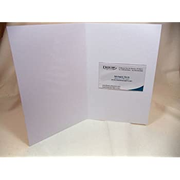 clear adhesive business card sleeves 100 pieces - Business Card Sleeves