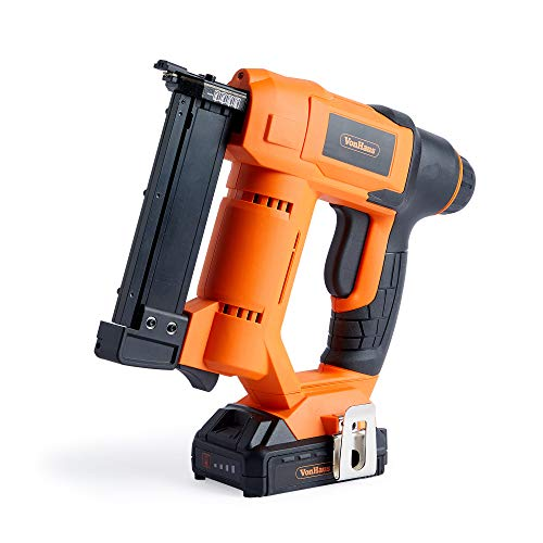 VonHaus 18V Li-Ion Cordless 23 Gauge Pin Nailer - Cordless Battery Operated - Impact Depth Adjuster - No-Mar Tip - Includes Battery