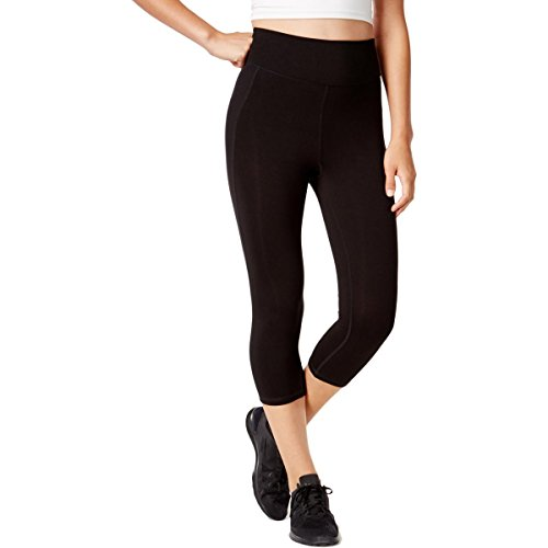 Ideology Womens Cropped Slimming Athletic Leggings Black S from Ideology