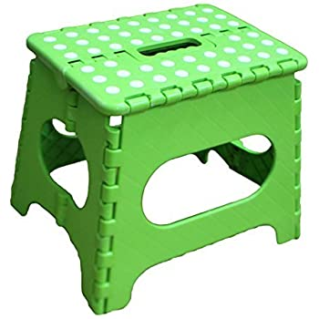 Jeronic 11-Inch Plastic Folding Step Stool Green  sc 1 st  Amazon.com : folding step up stool - islam-shia.org