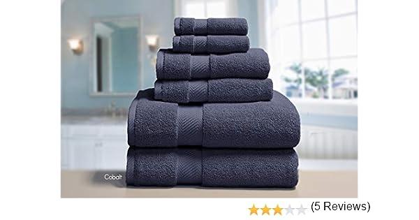 Elle 100% peinado algodón 6 piezas Juego de toallas, baño, mano, punta de los dedos: Amazon.es: Hogar