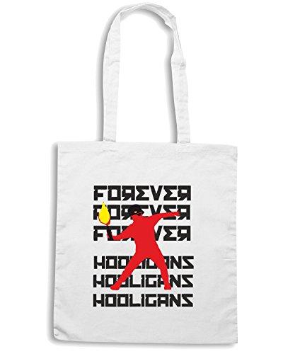 T-Shirtshock - Bolsa para la compra WC0356 forever hooligans Blanco