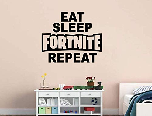 EAT SLEEP FORTNITE REPEAT Gamer Room Vinyl Wall Decal Sticker