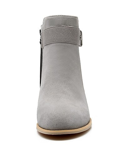 Botas us6 Botines 5 Xzz 8 5 Casual Zapatos Vestido Vellón 5 Cn42 Gray Moda Gris Punta Black Mujer Redonda Uk De 7 La Eu41 10 Tacón Cn37 Negro 5 Uk4 us9 Uk7 5 A Robusto Eu37 Cf8SwxfqX