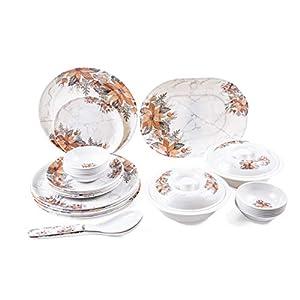 Utensza 32 pcs Melamine Dinner Set (Marble Amber)