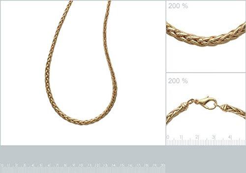 ISADY - Manny 3-6 mm / 45 cm Gold - Chaîne Collier - Mixte - Plaqué or jaune 18K