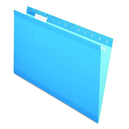 Pendaflex Reinforced Hanging Folders, Legal Size, Blue, 1/5 Cut, 25/BX (04153 1/5 (Pendaflex Colored Hanging)