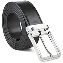 Mens Belt 100% Fine Leather Mens Belt Dress Belt Genuine Italian Leather Reversible