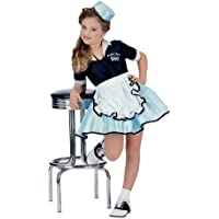 Rubies 50s Favorite Girls Car Hop Costume, Small (Ages 3 to 4)