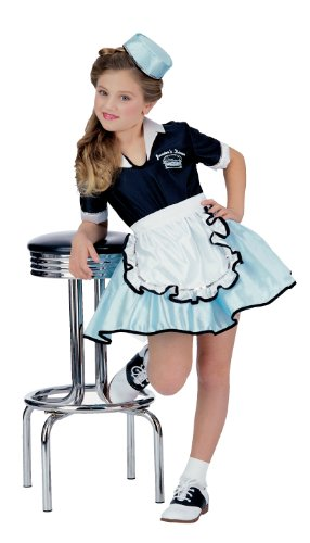 50s Favorite Girls Car Hop Costume, Medium - 50s Girl Costumes