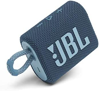 JBL Go 3: Moveable Speaker with Bluetooth, Constructed-in Battery, Waterproof and Dustproof Function – Blue (JBLGO3BLUAM) (Renewed)