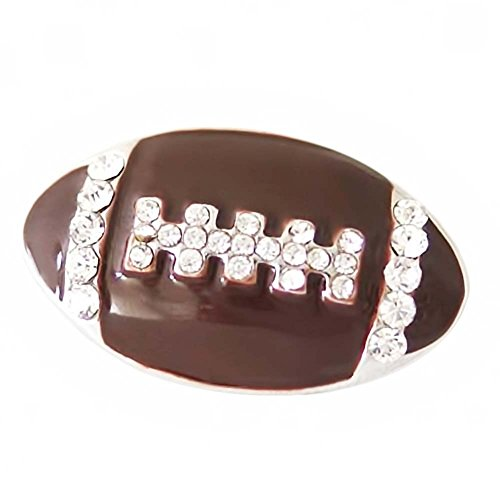 (Lovmoment Football Shape with Rhinestone and Enamel Snap Button Jewelry)