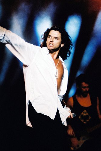 Inxs Terrific Michael Hutchence in Open White Shirt in Concert 24x36 Poster