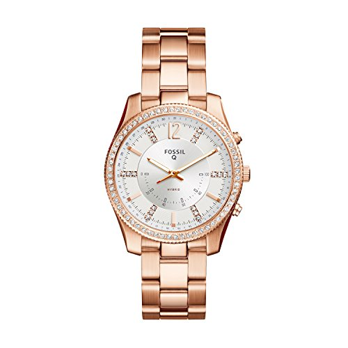 (Fossil Hybrid Smartwatch - Q Scarlette Rose Gold-Tone Stainless Steel FTW5016)