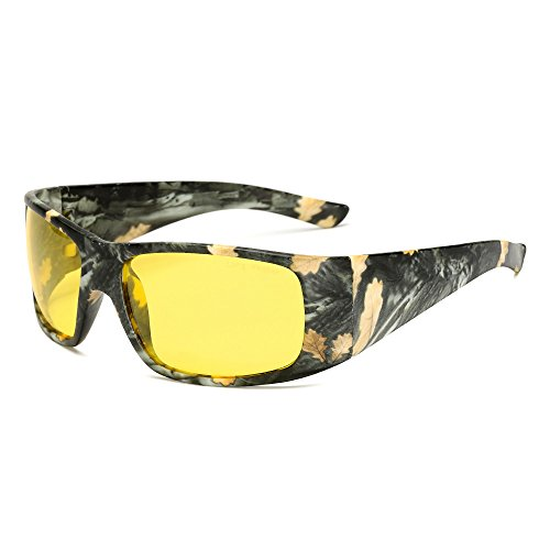Long Keeper - Night Vision Camouflage Sunglasses Sport Polarized Goggles for Hunting Cycling Fishing By Long Keeper (Yellow)