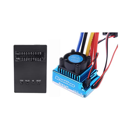 Aiyouxi 45A 60A 80A 120A ESC Brushless ESC Electric Speed Controller Dust-Proof with RC Car Program Card ESC Programmer