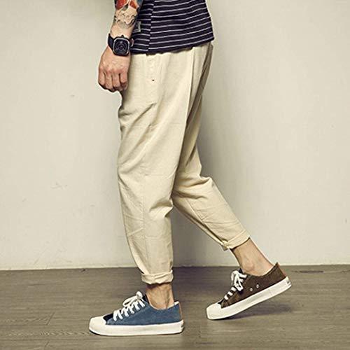 Pantaloni Casual Tasche Ragazzi Unita Da Con Kaki Coulisse Uomo Tinta Fashion Classiche In Laisla Lino Sportivi wa5qA1xT