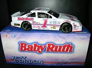 JEFF GORDON 1992 #1 BABY RUTH FORD THUNDERBIRD 1/24 SCALE DIECAST HOOD OPENS TRUNK OPENS LIMITED EDITION