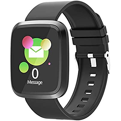 zhongyihongyi Smart bracelet fitness tracker activity smart wristband bracelet with pedometer large color screen heart rate blood pressure monitor waterproof IP67 40mm 46mm 10 8mm Estimated Price £28.70 -