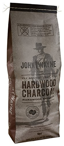 Fire & Flavor John Wayne Collection All Natural Hardwood Charcoal Briquets, 8.3 Pound Bag, Pack of 2