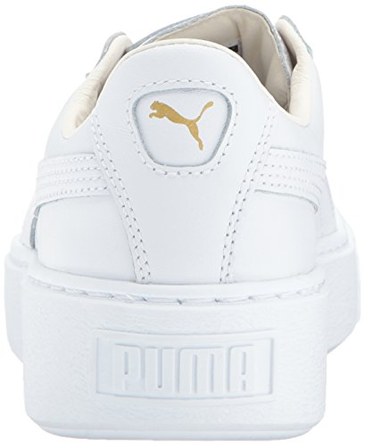 Women's White Fashion Puma Sneaker Basket gold Core Platform pU7xxHqd