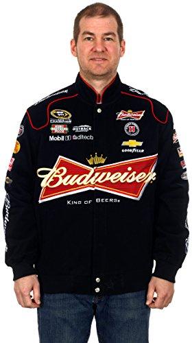 Kevin Harvick #4 Budweiser Black Cotton Twill NASCAR Racing Jacket (Medium)