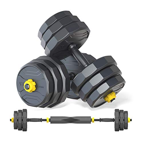 Deliny Dumbbells Adjustable Weight, Weights Set for Home Gym Can Be Used As a Barbell Weight Set 2 of DumbellsWeights…