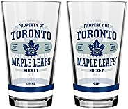 NHL Toronto Maple Leafs Property of Mixing Glass, 2-Pack
