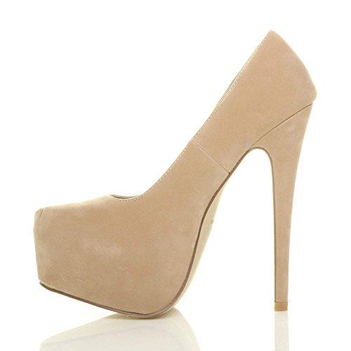 Damen Sehr Hoher Absatz Verdeckter Plateausohle Party Pumps Schuhe Größe 4 37 bimYGLGUm4