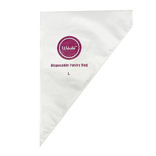 Webake 100pcs 16 Disposable Pastry Bag Icing Piping Bags (Large)