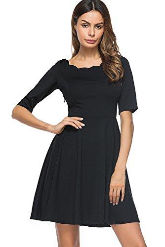 Flare Little Black Dress - 8