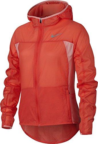 (Nike Girls Impossibly Light Hooded Running Jacket (Large, Max Orange/Max Orange/Bright Melon))