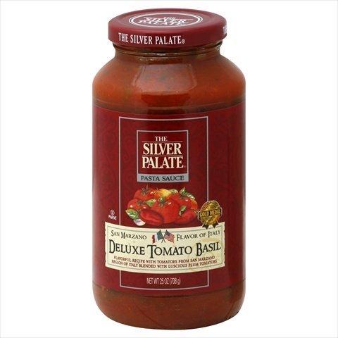 Silver Palate Deluxe Tomato Basil Pasta Sauce, 25 Ounce -- 6 per case. (Paste Marzano San Tomato)