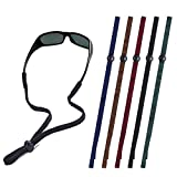 Leajoy Glasses Strap Sunglass Holder Straps for Men Women Kids,Soft Cords with Adjustable Beads, Pack of 5, Black & Camo