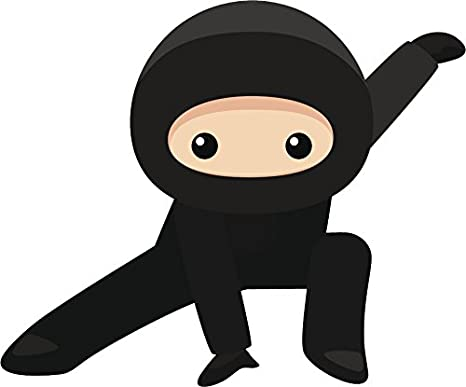 Amazon.com: Cool Kid Ninja Cartoon Icon Vinyl Decal Sticker ...
