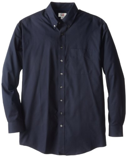 Cutter & Buck Men's Big-Tall Epic Easy Care Fine Twill Shirt, Navy Blue, 3XB (Cutter Tall)